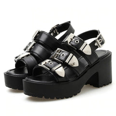 grunge buckle sandals shoes 2020