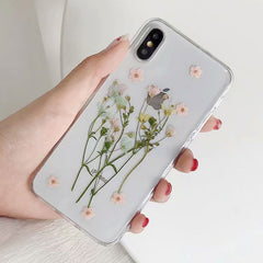 Pressed Flower IPhone Case at Boogzel Apparel Free Shipping
