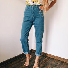 High Waisted Mom Jeans boogzel apparel