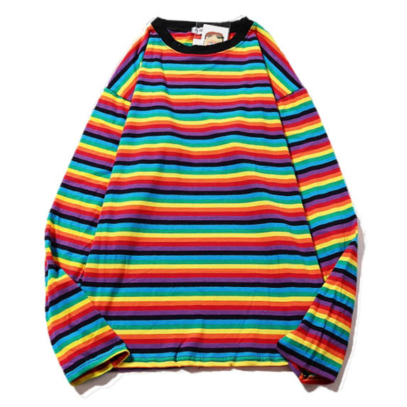 Rainbow Extra Long Sleeve Tee