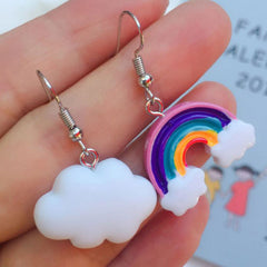 Rainbow and Cloud Earrings