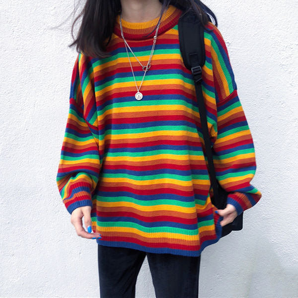 Rainbow Oversized Knit