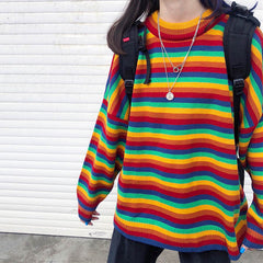 rainbow grunge jumper boogzel apparel