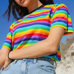 shop rainbow t-shirt boogzel apparel
