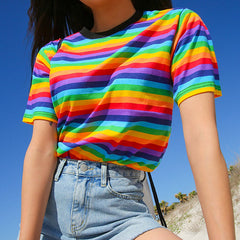 Buy Rainbow Tee At Boogzel Apparel Free Shipping
