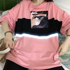 Reflective Anime T-Shirt