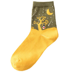 Shop Scary Night Socks At Boogzel Apparel Free Shipping