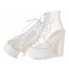 Buy See-Through Ankle Boots at Boogzel Apparel