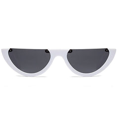 white Semi-Rimless Sunglasses