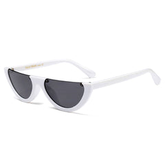 vintage white Semi-Rimless Sunglasses