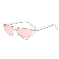 transparent pink vintage Semi Rimless Sunglasses