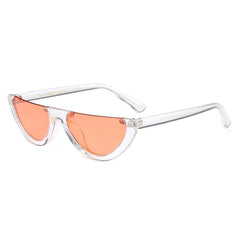 transparent orange vintage Semi Rimless Sunglasses