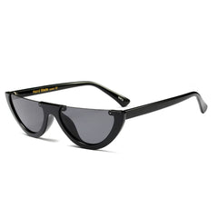 vintage black Semi Rimless Sunglasses
