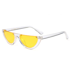 transparent YELLOW vintage Semi Rimless Sunglasses