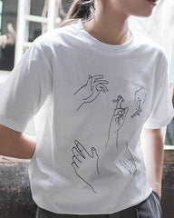 Smoking cigarette Hands T-Shirt harry styles  white byu usa uk boogzel apparel