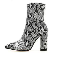 Shop Snakeskin Ankle Boots at Boogzel Apparel