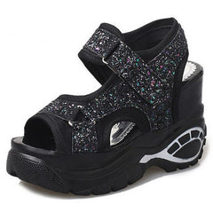 Made To Sparkle Platforms glitter shoes sandals boogzel apparel