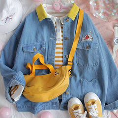 strawbery cake denim jacket