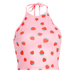 Strawberry Fields Halter Top at Boogzel Apparel