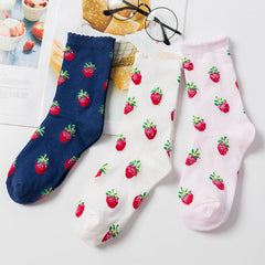 Shop Strawberry Fields Socks at Boogzel Apparel