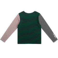 Striped Asymmetric Long Sleeve Top