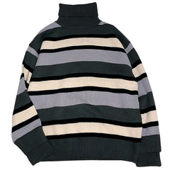 Striped Roll Neck Sweater at Boogzel Apparel