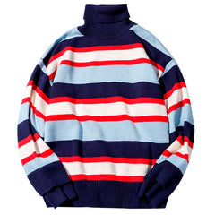 Shop Striped Roll Neck Sweater at Boogzel Apparel