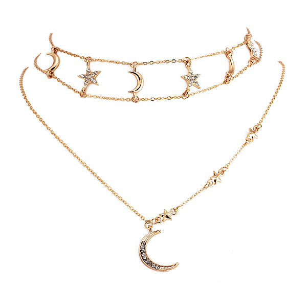 Sun & Moon Choker Necklace