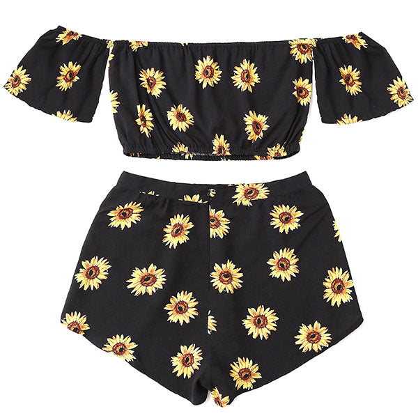 Sunflower Top & Shorts Set