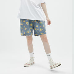 sunflowers denim shorts boogzel