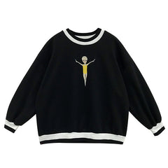 swimmer embroidery sweatshirt