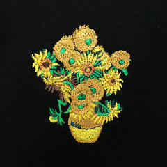 van gogh Sunflowers embroidery  boogzel apparel