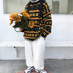 aesthetic knit pullover boogzel apparel