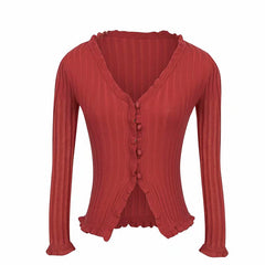 Vivian Ribbed Cardigan
