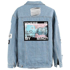 Where is my mind denim jacket boogzel apparel