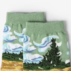 Wheat Field with Cypresses Socks BOOGZEL APPAREL