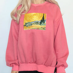 Wheat Field Cypresses Sweatshirt boogzel apparel