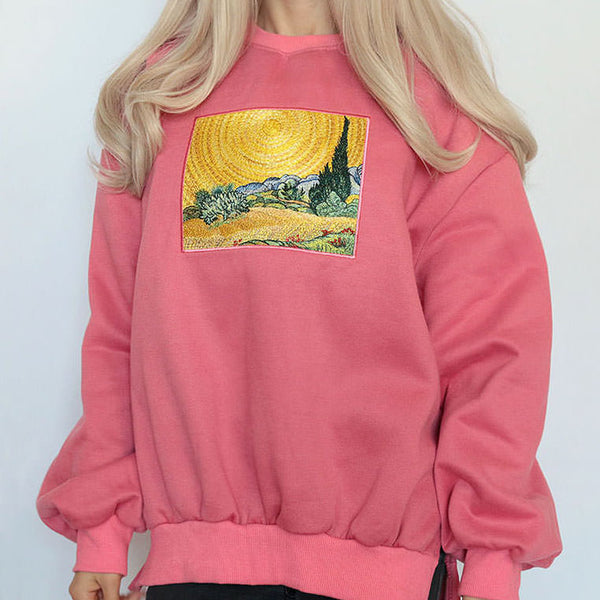Wheat Field Cypresses Sweatshirt