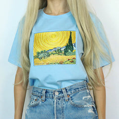 Wheat Field with Cypresses Tee boogzel apparel