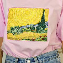 van gogh embroidery clothes boogzel apparel