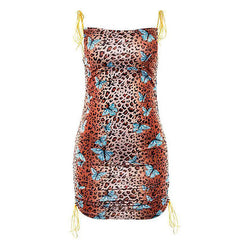 butterfly leopard dress