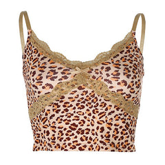 y2k animal print crop top boogzel apparel