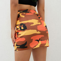 Buy Zip-Front Camo Skirt at Boogzel Apparel
