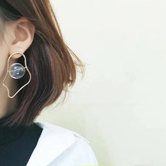 abstract vintage retro aesthetic earring boogzel apparel