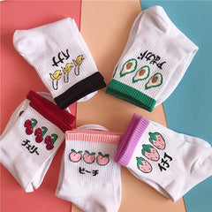 aesthetic fruit tumblr socks boogzel