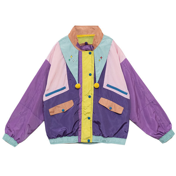 80's Kids Color Block Jacket