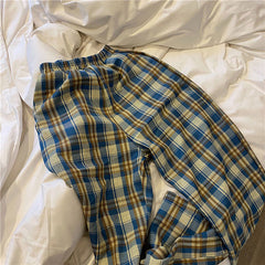 aesthetic outfit plaid trousers boogzel apparel