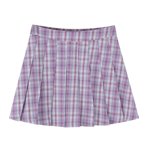 Maggie Plaid Mini Skirt