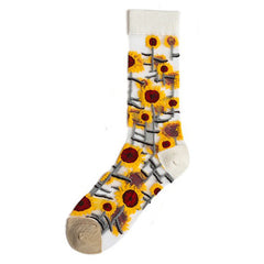 transparent sunflower socks boogzel apparel
