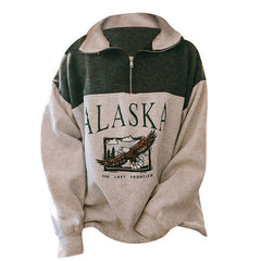 Alaska eagle  Zip Up Sweatshirt